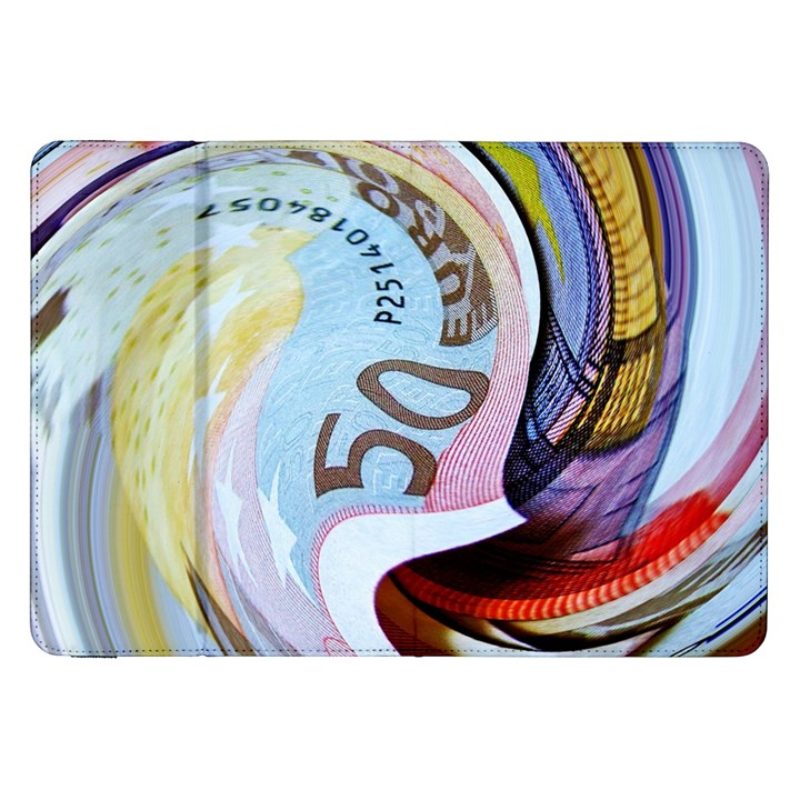 Abstract Currency Background Samsung Galaxy Tab 8.9  P7300 Flip Case