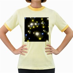 Abstract Dark Spheres Psy Trance Women s Fitted Ringer T-Shirts by Amaryn4rt
