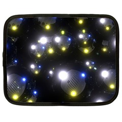 Abstract Dark Spheres Psy Trance Netbook Case (large) by Amaryn4rt