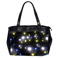 Abstract Dark Spheres Psy Trance Office Handbags (2 Sides)  by Amaryn4rt