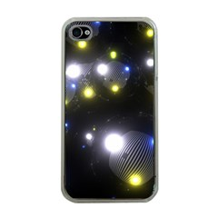 Abstract Dark Spheres Psy Trance Apple Iphone 4 Case (clear) by Amaryn4rt