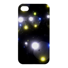 Abstract Dark Spheres Psy Trance Apple Iphone 4/4s Premium Hardshell Case
