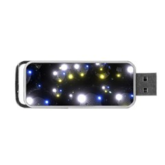 Abstract Dark Spheres Psy Trance Portable Usb Flash (one Side)