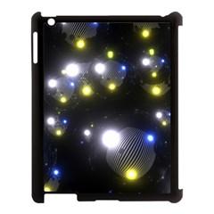 Abstract Dark Spheres Psy Trance Apple Ipad 3/4 Case (black) by Amaryn4rt