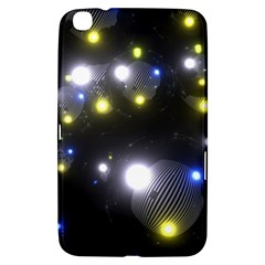 Abstract Dark Spheres Psy Trance Samsung Galaxy Tab 3 (8 ) T3100 Hardshell Case  by Amaryn4rt