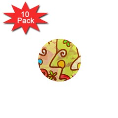 Abstract Faces Abstract Spiral 1  Mini Magnet (10 Pack)  by Amaryn4rt