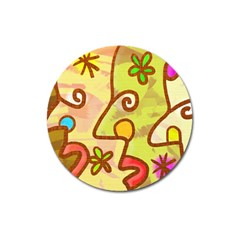 Abstract Faces Abstract Spiral Magnet 3  (round) by Amaryn4rt