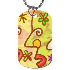 Abstract Faces Abstract Spiral Dog Tag (one Side) by Amaryn4rt