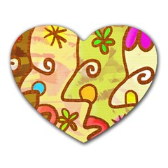 Abstract Faces Abstract Spiral Heart Mousepads by Amaryn4rt