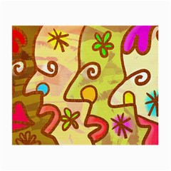 Abstract Faces Abstract Spiral Small Glasses Cloth (2-Side)