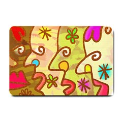 Abstract Faces Abstract Spiral Small Doormat