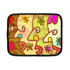 Abstract Faces Abstract Spiral Netbook Case (small)  by Amaryn4rt