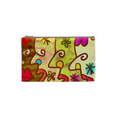 Abstract Faces Abstract Spiral Cosmetic Bag (small)  by Amaryn4rt