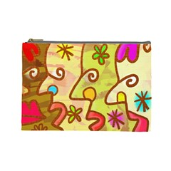 Abstract Faces Abstract Spiral Cosmetic Bag (large)  by Amaryn4rt