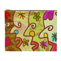 Abstract Faces Abstract Spiral Cosmetic Bag (xl) by Amaryn4rt