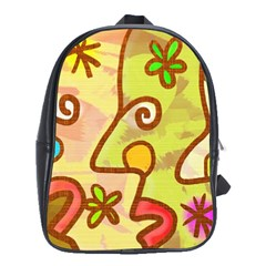 Abstract Faces Abstract Spiral School Bags(large)  by Amaryn4rt