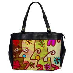 Abstract Faces Abstract Spiral Office Handbags by Amaryn4rt