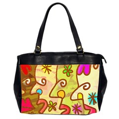 Abstract Faces Abstract Spiral Office Handbags (2 Sides)  by Amaryn4rt