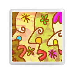 Abstract Faces Abstract Spiral Memory Card Reader (square)  by Amaryn4rt