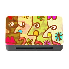 Abstract Faces Abstract Spiral Memory Card Reader with CF