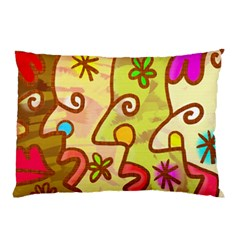 Abstract Faces Abstract Spiral Pillow Case (two Sides) by Amaryn4rt