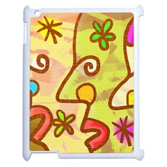 Abstract Faces Abstract Spiral Apple Ipad 2 Case (white) by Amaryn4rt