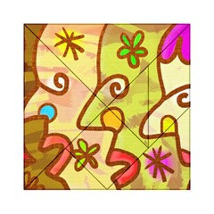 Abstract Faces Abstract Spiral Acrylic Tangram Puzzle (6  x 6 )