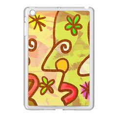 Abstract Faces Abstract Spiral Apple Ipad Mini Case (white) by Amaryn4rt