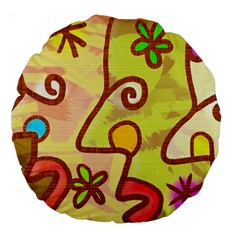 Abstract Faces Abstract Spiral Large 18  Premium Round Cushions by Amaryn4rt
