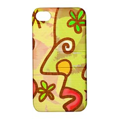 Abstract Faces Abstract Spiral Apple Iphone 4/4s Hardshell Case With Stand by Amaryn4rt