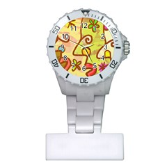 Abstract Faces Abstract Spiral Plastic Nurses Watch by Amaryn4rt
