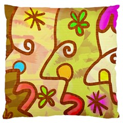 Abstract Faces Abstract Spiral Standard Flano Cushion Case (Two Sides)
