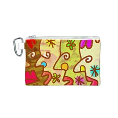 Abstract Faces Abstract Spiral Canvas Cosmetic Bag (s) by Amaryn4rt