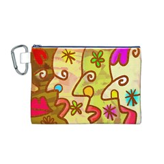 Abstract Faces Abstract Spiral Canvas Cosmetic Bag (m) by Amaryn4rt