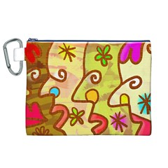 Abstract Faces Abstract Spiral Canvas Cosmetic Bag (xl) by Amaryn4rt