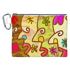 Abstract Faces Abstract Spiral Canvas Cosmetic Bag (xxl) by Amaryn4rt