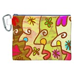Abstract Faces Abstract Spiral Canvas Cosmetic Bag (XXL)