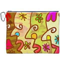 Abstract Faces Abstract Spiral Canvas Cosmetic Bag (xxxl) by Amaryn4rt