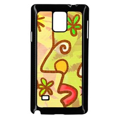 Abstract Faces Abstract Spiral Samsung Galaxy Note 4 Case (Black)
