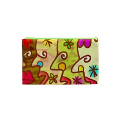 Abstract Faces Abstract Spiral Cosmetic Bag (xs) by Amaryn4rt