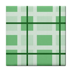 Abstract Green Squares Background Face Towel by Amaryn4rt