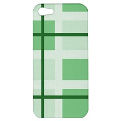 Abstract Green Squares Background Apple Iphone 5 Hardshell Case