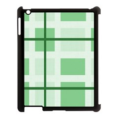 Abstract Green Squares Background Apple Ipad 3/4 Case (black) by Amaryn4rt