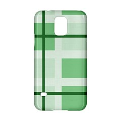 Abstract Green Squares Background Samsung Galaxy S5 Hardshell Case  by Amaryn4rt
