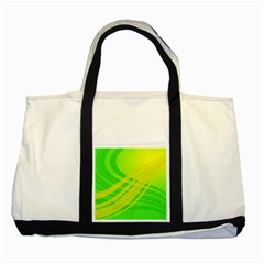 Abstract Green Yellow Background Two Tone Tote Bag by Amaryn4rt