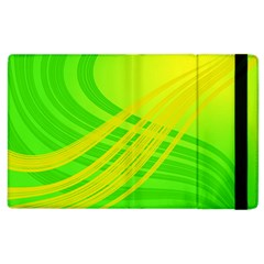 Abstract Green Yellow Background Apple Ipad 2 Flip Case
