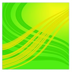 Abstract Green Yellow Background Large Satin Scarf (Square) by Amaryn4rt
