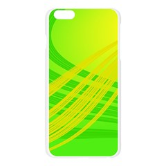 Abstract Green Yellow Background Apple Seamless iPhone 6 Plus/6S Plus Case (Transparent) by Amaryn4rt