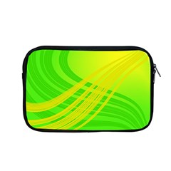 Abstract Green Yellow Background Apple Macbook Pro 13  Zipper Case by Amaryn4rt