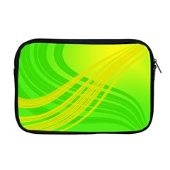 Abstract Green Yellow Background Apple MacBook Pro 17  Zipper Case